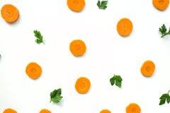 Zanahorias brillantes - el concepto de comidas orgánicas y de consumición sana Fotografía de archivo