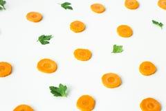 Zanahorias brillantes - el concepto de comidas orgánicas y de consumición sana Imagenes de archivo