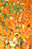 Zanahorias cocinadas Imagen de archivo
