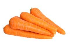 Zanahorias - comida fresca para la salud Imágenes de archivo libres de regalías