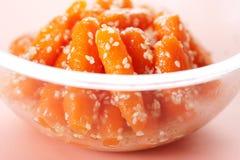 Zanahorias de bebé esmaltadas miel Fotografía de archivo libre de regalías