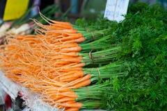 Zanahorias de bebé frescas Imagen de archivo libre de regalías