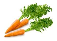 Zanahorias en blanco fotografía de archivo libre de regalías