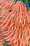 Zanahorias en el mercado de los granjeros de San Francisco Fotografía de archivo