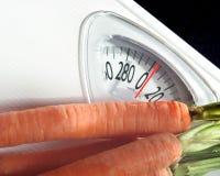 Zanahorias en escala Fotografía de archivo libre de regalías