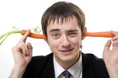 Zanahorias en oídos Foto de archivo