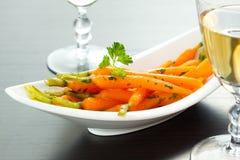 Zanahorias esmaltadas Foto de archivo