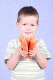Zanahorias frescas Foto de archivo libre de regalías