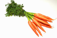 Zanahorias frescas Foto de archivo