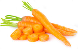 Zanahorias frescas Imagen de archivo libre de regalías