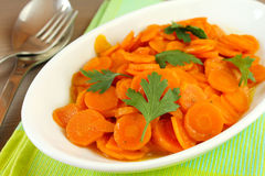 Zanahorias guisadas Fotos de archivo