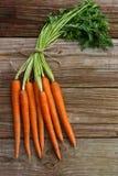 Zanahorias orgánicas Foto de archivo