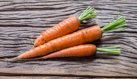 Zanahorias orgánicas frescas Foto de archivo libre de regalías