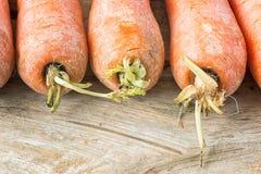 Zanahorias orgánicas frescas Imagen de archivo libre de regalías