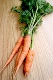 Zanahorias orgánicas frescas Foto de archivo
