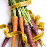 Zanahorias orgánicas frescas del arco iris Imagen de archivo