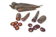 Zanahorias púrpuras Imagen de archivo