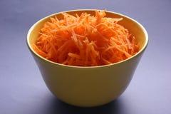 Zanahorias ralladas. Imagen de archivo libre de regalías