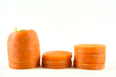 Zanahorias rebanadas Foto de archivo