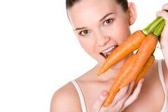Zanahorias sabrosas fotografía de archivo libre de regalías