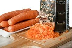 Zanahorias - una fuente de vitaminas y de minerales Foto de archivo