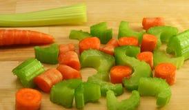 Zanahorias y apio imagen de archivo