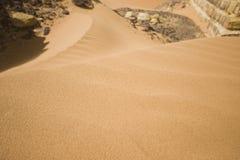 Zand bij woestijn royalty-vrije stock afbeeldingen