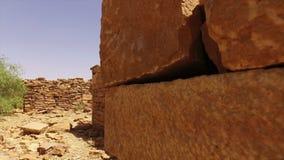 Zand in een woestijn stock video