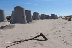 Zand en beton Royalty-vrije Stock Foto's