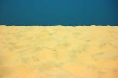 Zand en duidelijke hemel Royalty-vrije Stock Afbeelding
