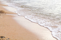 Zand en Golfschuim Royalty-vrije Stock Foto
