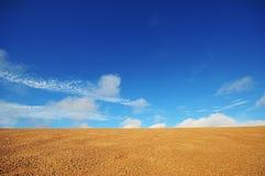 Zand en Hemel stock afbeeldingen