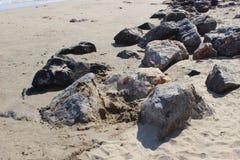 Zand en Rots Royalty-vrije Stock Afbeeldingen