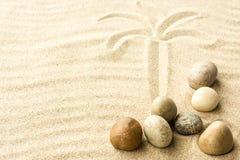 Zand en stenen Royalty-vrije Stock Afbeeldingen