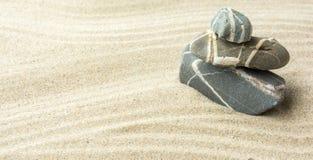 Zand en stenen Stock Foto