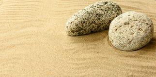 Zand en stenen Royalty-vrije Stock Afbeelding