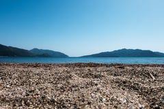 Zand en strandlandschap Royalty-vrije Stock Afbeeldingen
