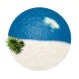 Zand en water Stock Fotografie