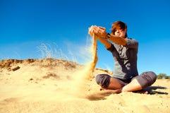 Zand en wind Royalty-vrije Stock Afbeeldingen