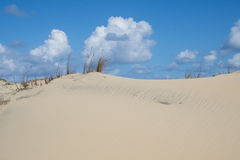 Zand en wolken Royalty-vrije Stock Foto
