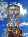 Zand-glas royalty-vrije stock foto's