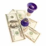 Zand-glas en dollars Stock Fotografie