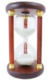 Zand-glas op een wit stock foto