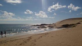 Zand oceaanstrand Stock Afbeelding
