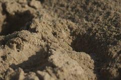 Zand op het strand Royalty-vrije Stock Foto's