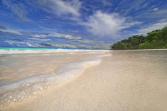 Zand overzees schuim. Royalty-vrije Stock Foto