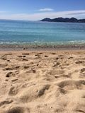 Zand overzeese lucht Royalty-vrije Stock Foto's