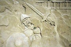 Zand strijder-Burgas-2011 Stock Foto