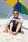 Zand tussen Uw Tenen! Royalty-vrije Stock Foto