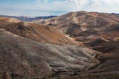 Zand van Judean-Woestijn (Israël), van heuvel dichtbij Beit El royalty-vrije stock foto